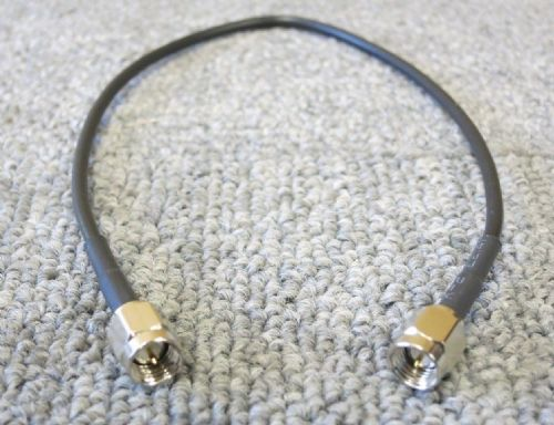 SMA Plug Male Straight To SMA Plug Male Straight 280MM Black Coaxial RF Cable